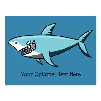 Cool Shark custom text postcard