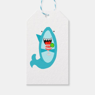 Cool Shark Drinking a Margarita Gift Tags