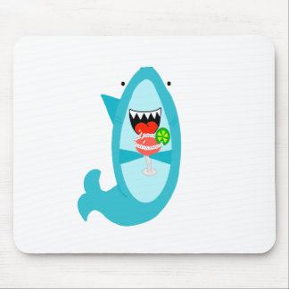 Cool Shark Drinking a Margarita Mouse Pad
