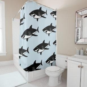 Cool Sharks Design Pattern Shower Curtain