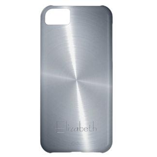 Cool Shiny Radial Steel Metallic iPhone 5C Case