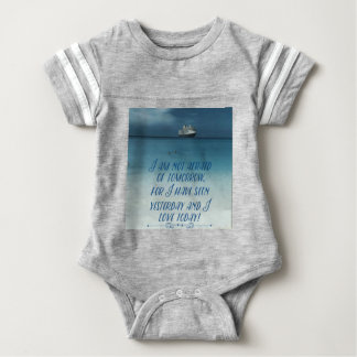 Cool Ship On Ocean Positive Quote Baby Bodysuit