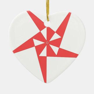 cool shirt logo ceramic heart decoration