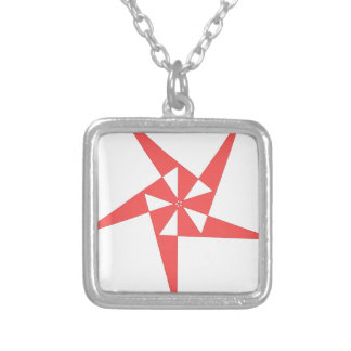 cool shirt logo silver plated necklace