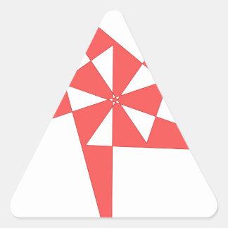 cool shirt logo triangle sticker