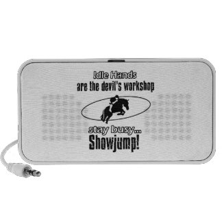 Cool show jumping designs laptop speakers