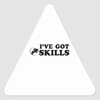 cool show jumping designs triangle sticker