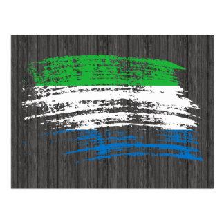 Cool Sierra Leonean flag design Postcard
