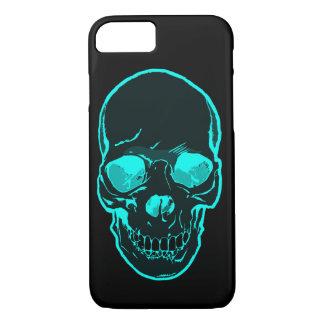 Cool Silhouette Ice Blue Skull Graphic Art. Custom iPhone 7 Case