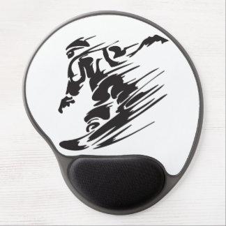 Cool Silhouette Snowboarding Mountain Mousepad