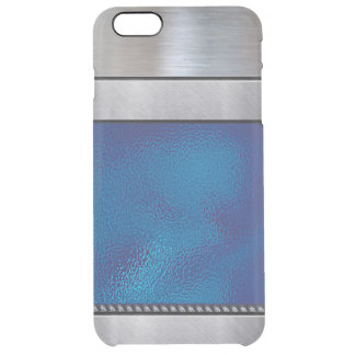 Cool Silver 3D Blue Pattern iPhone Plus Case
