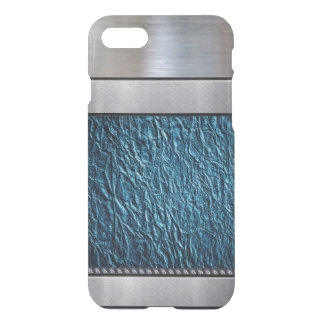 Cool Silver 3D Teal Pattern iPhone Plus Case