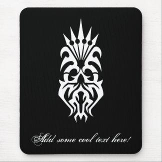 Cool Simple Elegant Classic Black White Tribal Mouse Pad