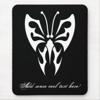 Cool Simple Elegant Classic Black White Tribal tat Mouse Pad