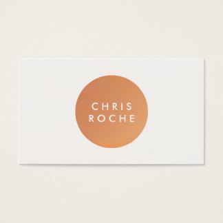 Cool Simple Modern Designer Copper Circle