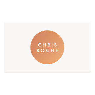 Cool Simple Modern Designer Copper Circle Pack Of Standard Business Cards