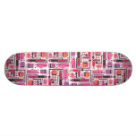 Cool skateboard with funny monster graphics