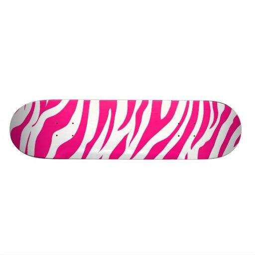 Cool Skateboards for Girls Hot Pink Zebra Stripe