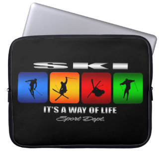 Cool Ski It Is A Way Of Life Laptop Sleeve