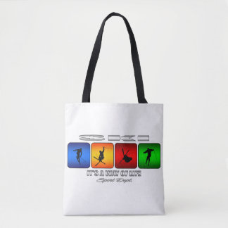 Cool Ski It Is A Way Of Life Tote Bag