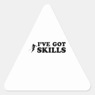 cool skiing designs triangle sticker