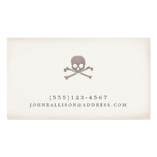 Cool Skull and Cross Bones Novelty Calling Card Pack Of Standard Business Cards