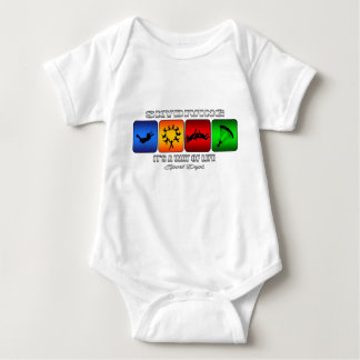 Cool Skydiving It Is A Way Of Life Baby Bodysuit
