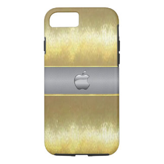 Cool Slim Gold with Silver Apple Cell Phone Case