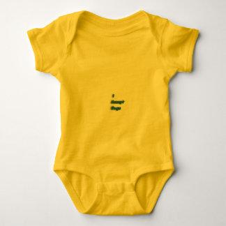 Cool slogan wear baby bodysuit
