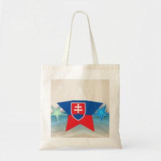 Cool Slovakia Flag at the Beach Tote Bag