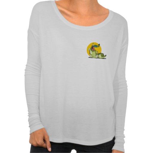 Cool Smile Crocodile Long Sleeve Shirt for Women
