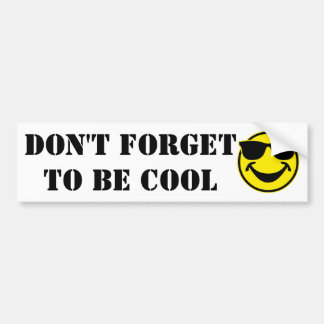 Cool Smiley yellow + your backg. & ideas Bumper Sticker