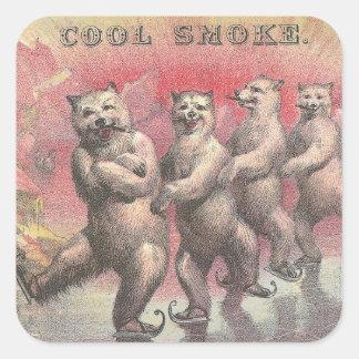 Cool Smoke Square Sticker