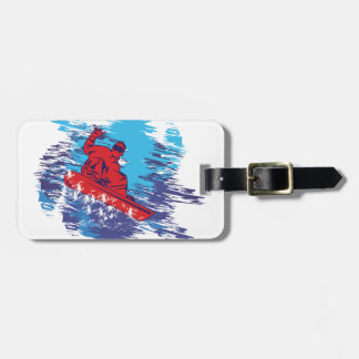Cool Snowboarder Luggage Tag