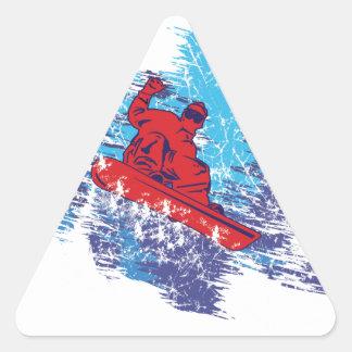 Cool Snowboarder Triangle Sticker