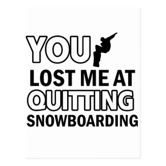 Cool Snowboarding designs Postcard