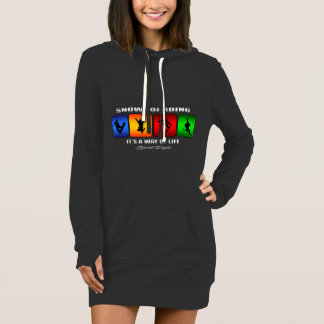 Cool Snowboarding It Is A Way Of Life Dress