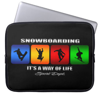 Cool Snowboarding It Is A Way Of Life Laptop Sleeve