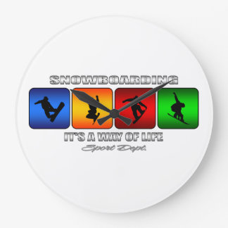 Cool Snowboarding It Is A Way Of Life Large Clock