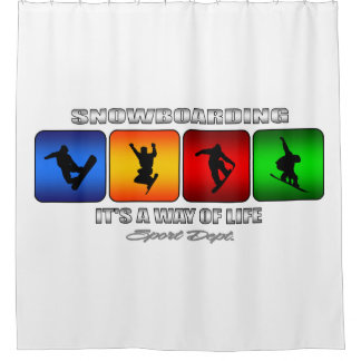 Cool Snowboarding It Is A Way Of Life Shower Curtain