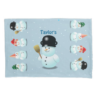 Cool Snowman Pillowcase