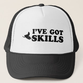 cool snownmobile designs trucker hat