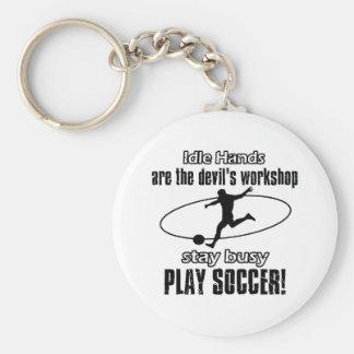 Cool soccer designs key chain