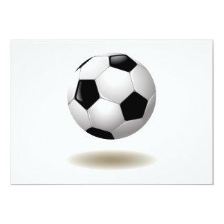 Cool Soccer Emblem 13 Cm X 18 Cm Invitation Card