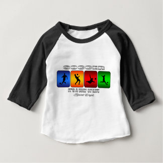 Cool Soccer It Is A Way Of Life Baby T-Shirt