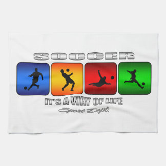 Cool Soccer It Is A Way Of Life Tea Towel