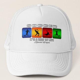 Cool Soccer It Is A Way Of Life Trucker Hat