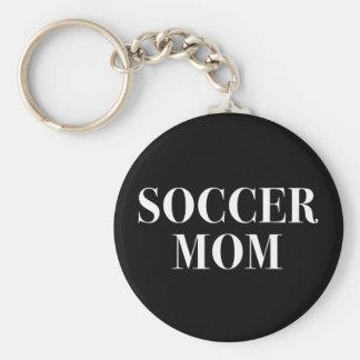Cool Soccer Mom Slogan Keychain