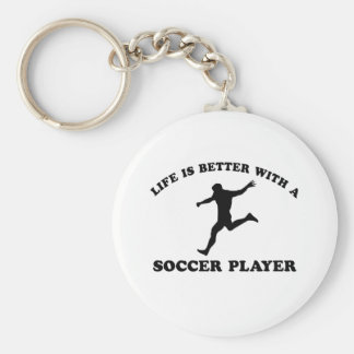 Cool soccer player designs key chains