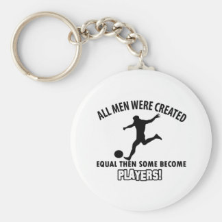 Cool soccer player designs keychains